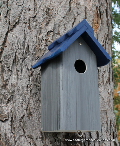 A bluebird house made from PVC, Sadler Garden Collections.