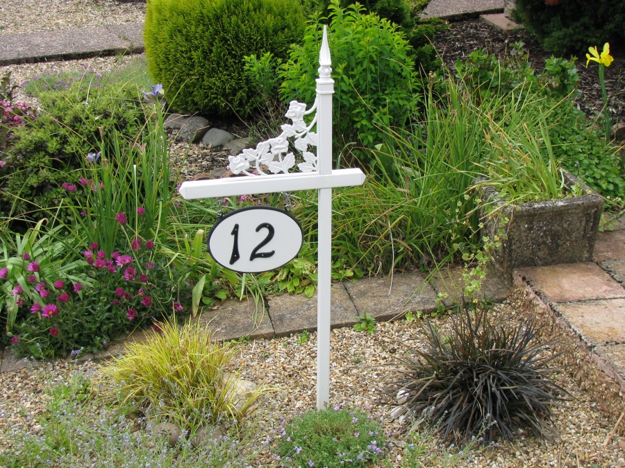 A little product diversity with our PVC lawn sign holder, Sadler Garden Collections