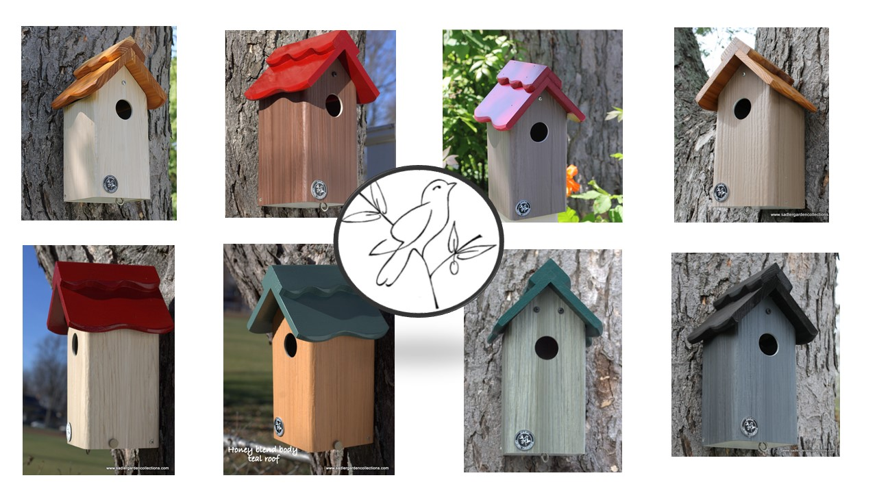 PVCedar Bird Houses – a mixed media