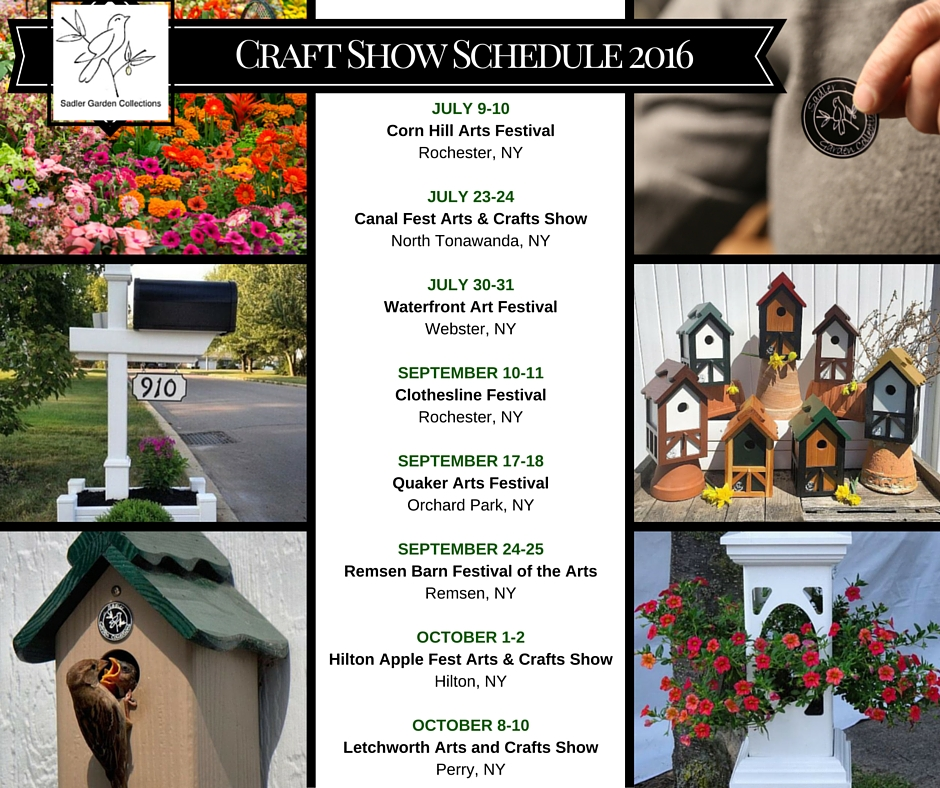 Craft Show Schedule 2016