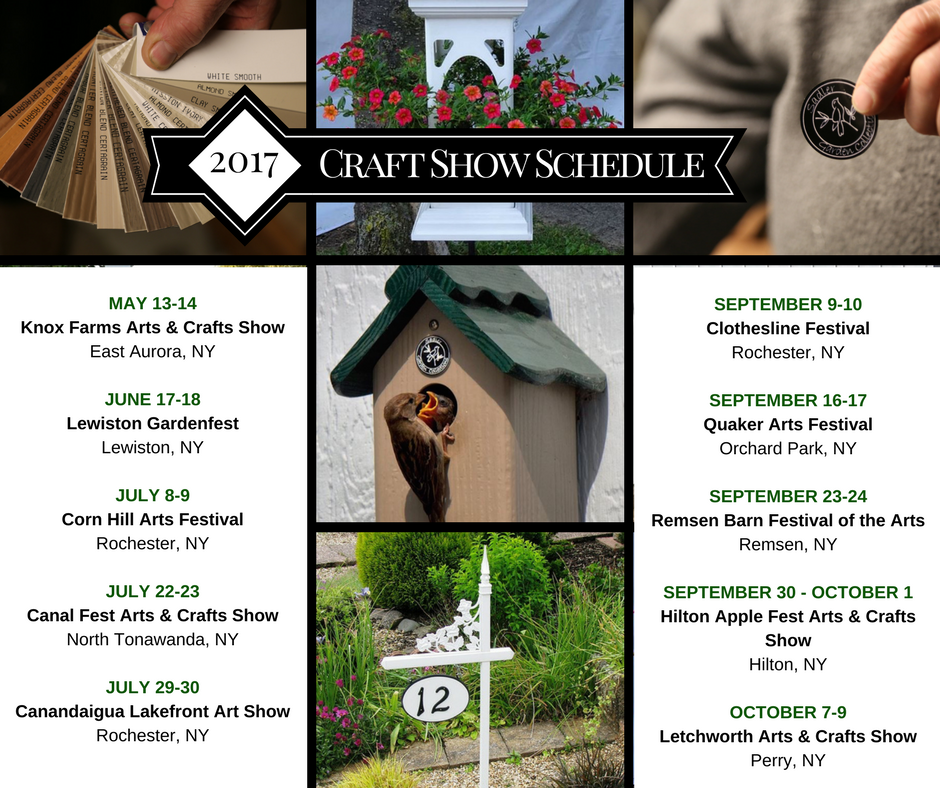Craft Show Schedule 2017